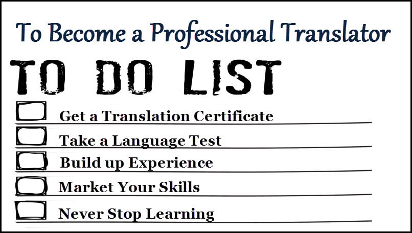 5 Step to become a Professional translator