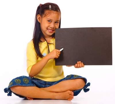 """Kid Holding Board For Writing"" by Stuart Miles"
