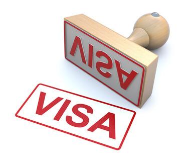Rubber stamp - Visa
