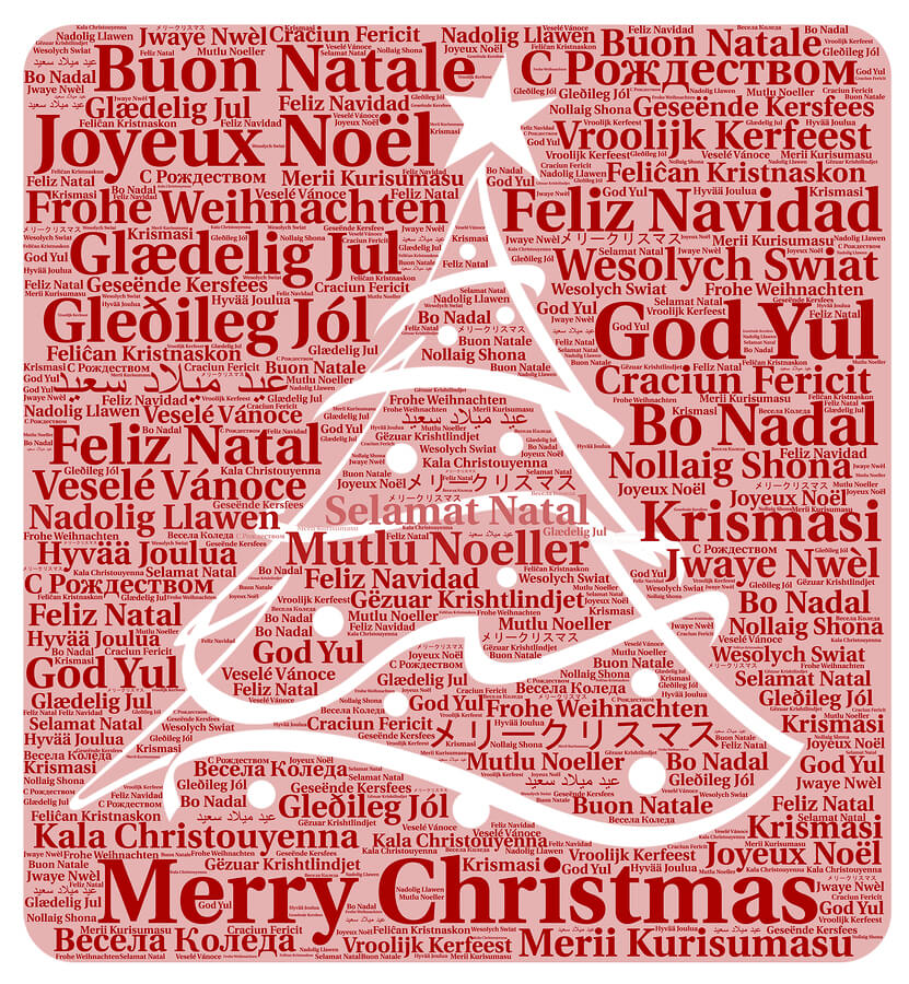 Merry Christmas Can be Translated into Many Other Languages