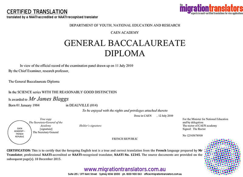 Professional translation services in australia by the migration university certificate yadclub Gallery